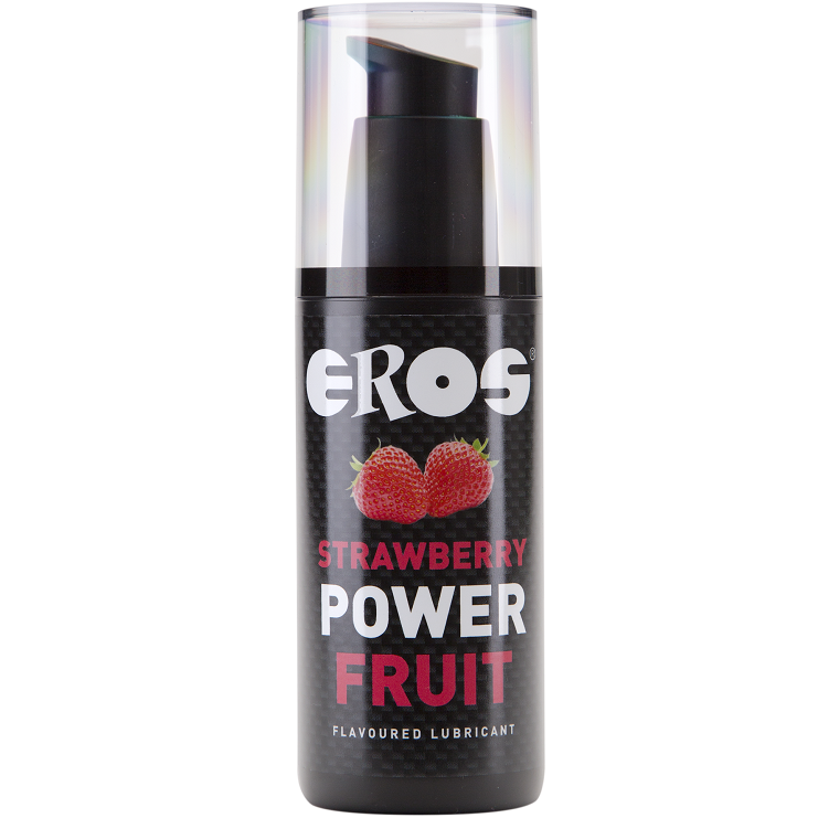 Lubricante Base Agua Power Fruit Fresa 125 ml Eros 1